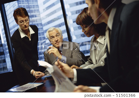 Business executives in a meeting 51501366