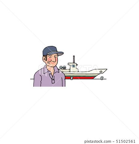 어선과 어부의 아저씨 51502561