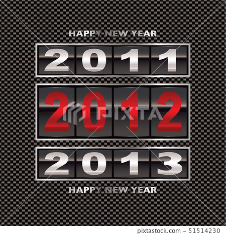 Modern carbon fiber background with 2012 new year counter 51514230