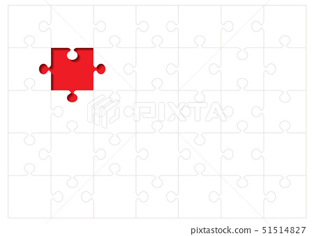 Jigsaw puzzle background concept with red missing piece 51514827