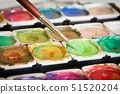 Paints and Brush 51520204