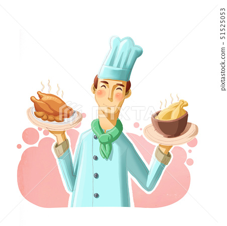 통닭,요리사모자,전통음식 51525053