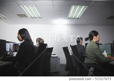 White-collar workers working in office 51527873