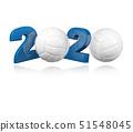 Volleyball 2020 Design 51548045