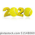 Tennis ball 2020 Design 51548060