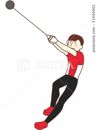 錘子投擲男性運動員 51689902