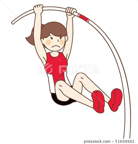 Pole Vault Female Athletic Player 51689982