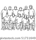 male soccer football team taking photo vector 51731649