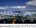 야경,N서울타워,서울성곽,남산,중구,서울 51752743