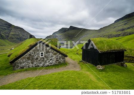 Museum of overgrown houses, Saksun, Streymoy, Faroe Islands, Denmark, Europe 51783801
