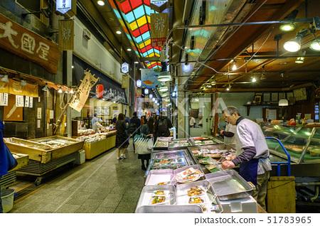Nishiki market, Kyoto, Kansai, Honshu, Japan, Asia 51783965