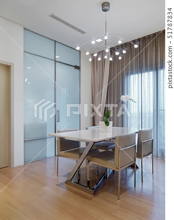 Dining room table in modern home,Taipei, Taiwan 51787834