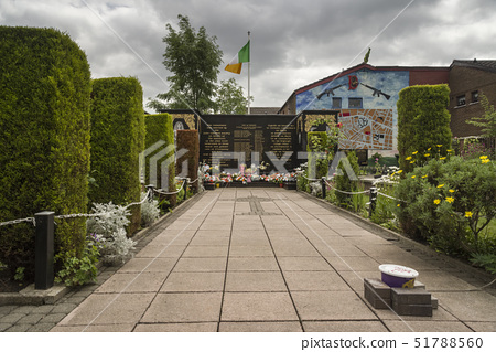 Peace Garden, Falls Road, Belfast, Ulster, Northern Ireland, United Kingdom, Europe 51788560