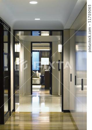 Hallway through modern home,Taipei, Taiwan 51789065