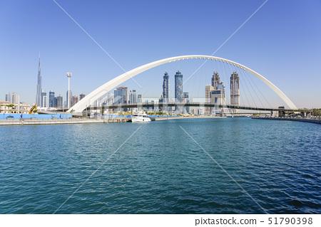 Tolerance Bridge, a new pedestrian bridge spanning Dubai Water Canal, Business Bay, Dubai, United Ar 51790398