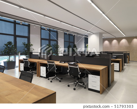 Chairs at desk in office 51793303