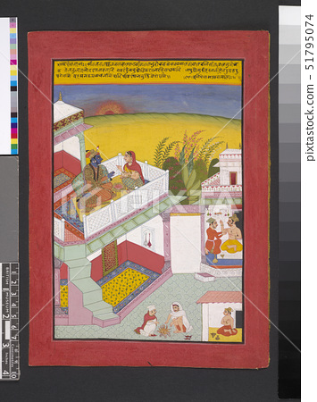 The month of Phalgun. February/March',Baramasa miniatures,Mughal 51795074