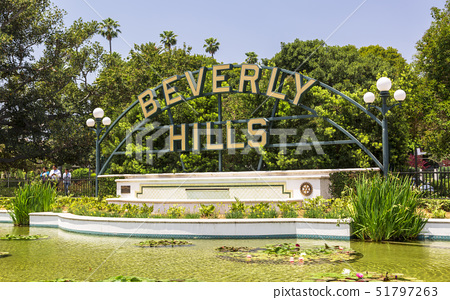 Beverly Hills sign, Beverly Hills, Los Angeles, California, United States of America, North America 51797263