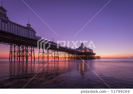 Sunrise at Eastbourne Pier, Eastbourne, East Sussex, England, United Kingdom, Europe 51799269
