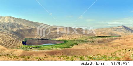 오아시스,모래,언덕,바단지린사막,내몽고,중국 51799954