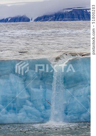 Negribreen (Negri Glacier), Olav V Land, Spitsbergen, Svalbard Archipelago, Norway, Scandinavia, Eur 51800283