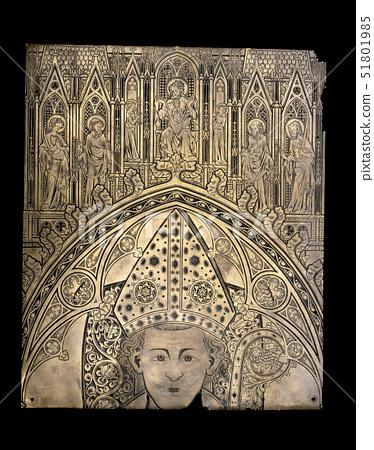 Monumental brass of an unknown bishop 51801985