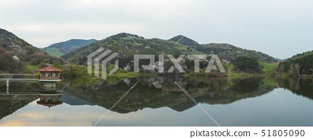 아침,봄,용비지,서산시,충남 51805090