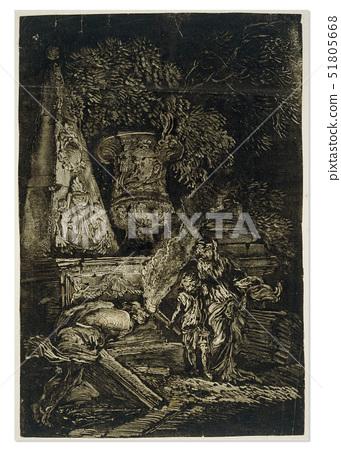 Giovanni Benedetto Castiglione,Theseus Finding the Arms of his Father,a monotype 51805668