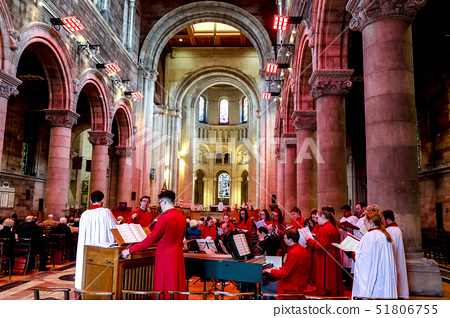Choir and Sunday Service, St. Ann's, Belfast Protestant Cathedral, Belfast, Ulster, Northern Ireland 51806755
