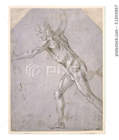 Filippino Lippi,A Nude Man,a silverpoint drawing 51809867