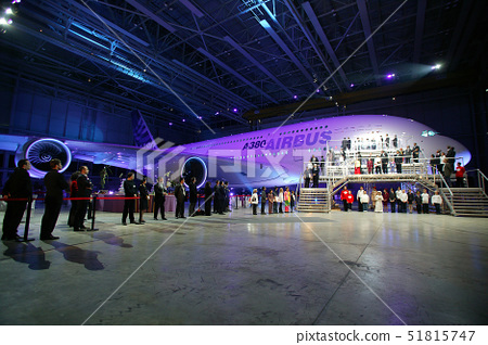 France,Haute Garonne,Toulouse,Airbus A380 presentation(the biggest carrier of the world)in Jean Luc 51815747