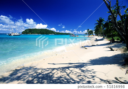 Caribbean sea,St Vincent&the Grenadines,Tobago Cays,beach of one of many uninhabited 51816998