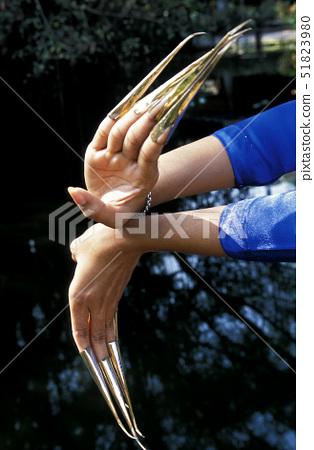 Thailand,Bangkok,Dancer with Golden Fingers, 51823980