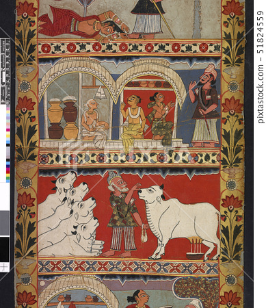 Scenes from the legend of Gazi,a scroll painting 51824559