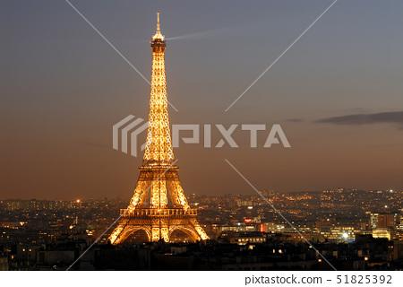 France,Paris,the Eiffel Tower illuminated( SETE-Illuminations Pierre Bideau), 51825392