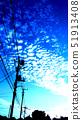 住宅区和云彩在日落 51913408