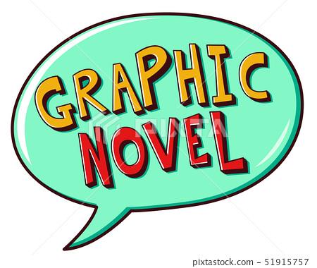 Graphic Novel Speech Bubble Illustration 51915757