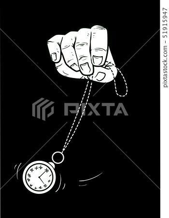 Hand Hypnosis Clock Sway Illustration 51915947