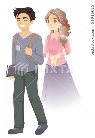 Teen Boy Friend Ghost Illustration 51916015
