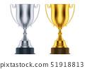 金色 银 奖杯 51918813