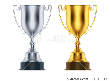 Cups for first, second place at sport competition 51918813