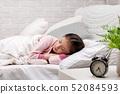 Cute little child girl sleeping 52084593