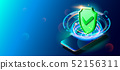 Secure Privacy Data in Internet. Cell Phone on Colorful Background. 52156311