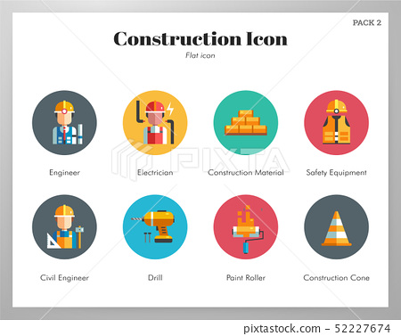 Construction icons flat pack 52227674