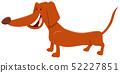 brown dachshund dog cartoon character 52227851