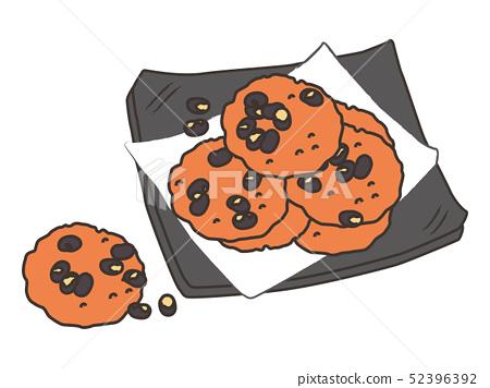 黑豆薄脆餅乾rice_cracker 52396392