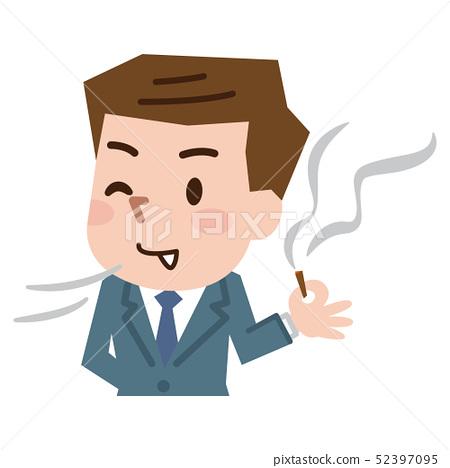 Men smoking cigarettes 52397095
