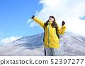 겨울 레저를 즐기는 여성 52397277
