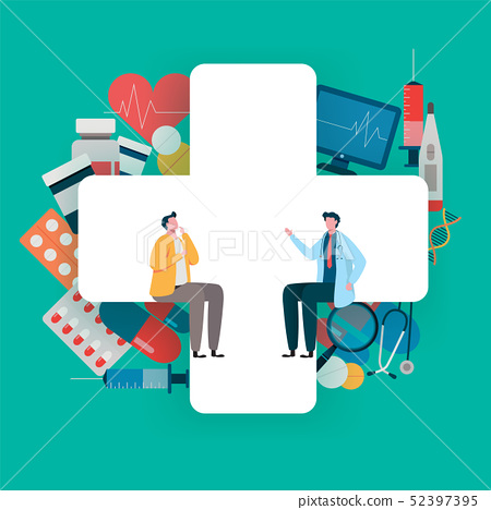 Patient consultation to the doctor. Health care  52397395