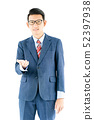 Businessman portrait in suit and wear glasses 52397938